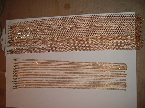 Base metal Chains gold colour 24 inch