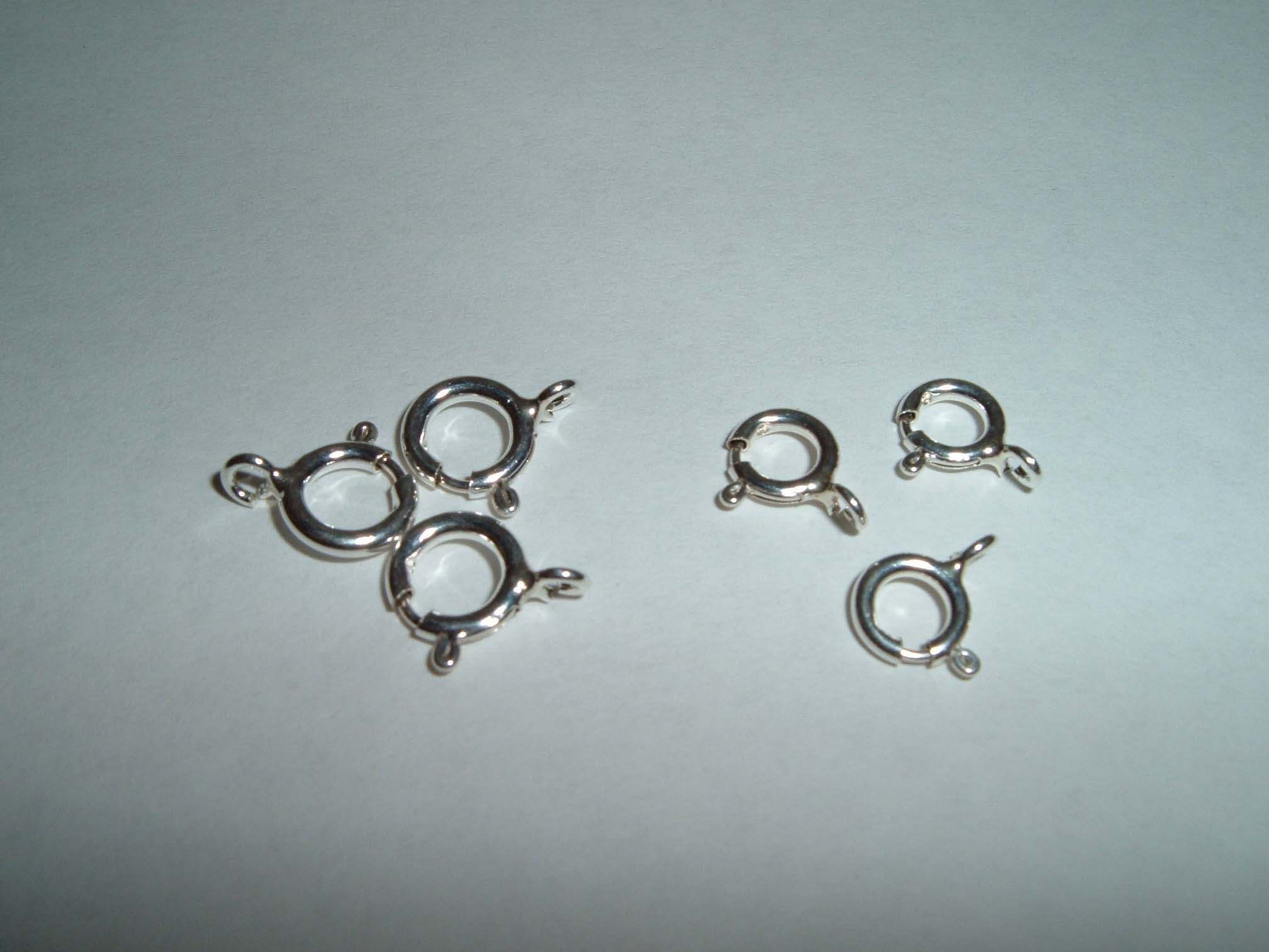 Bolt Rings & Clasps Sterling silver 5,6,7 & 8mm